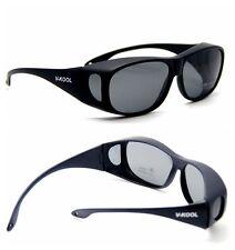 Polarized lens wraparound Sunglasses Clip wear fit over on eyeglass glasses p01