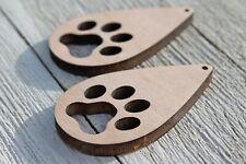 Inacabado madera joyería Pendientes de Gota Gancho cuelgan pendientes espacios en blanco recorte Crafts
