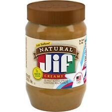 Jif Natural Creamy Peanut Butter Spread, 40-Ounce
