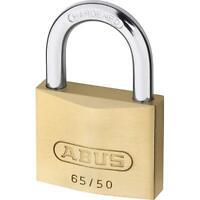 ABUS PREMIUM 65 / 50 mm, VORHANGSCHLOSS AUS MESSING, Mit 2 Schlüssel