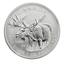Canadian Wildlife Series Moose 2012 1 oz .9999 Silver Coin