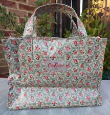 CATH KIDSTON Green Kempton Rose Oil Cloth Day Box Bag / Hand Bag