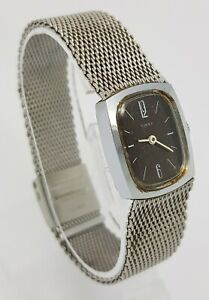 Vintage Timex Ladies Stainless Steel Mesh Strap Hand-Winding Mechanical Watch A1