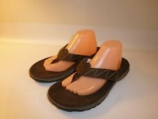 Merrell Tortugus Flip Flops Sandals Men's Brown Leather - US 12