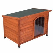 Wooden Dog Kennel Small Free Plastic Door Folding roof protect from cold Garden