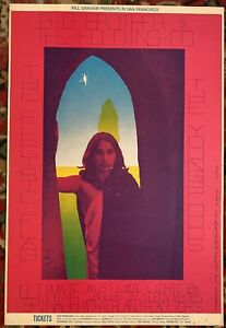 BG-104 BIG BROTHER JOPLIN YOUNGBLOODS ELECTRIC FLAG FILLMORE POSTER 1968 SALE