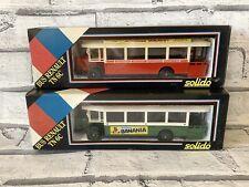 Solido 1934 Bus Renault TN6C Bus Lyonnais And Bus Parisien Mint in boxes