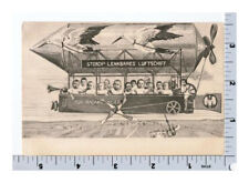Storks Bring Babies Postcard | Dirigible Airship Zeppelin Baby Announcement