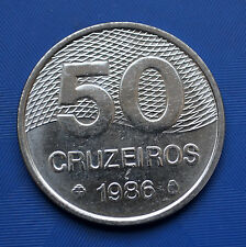 New listing Brazil 50 Cruzeiros coin. 1981-86. South America. 28mm. Unc.