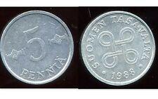 FINLANDE 5 pennia  1988