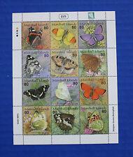 Marshall Islands (#776) 2001 Butterflies II MNH sheet