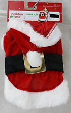 Christmas Holiday Time Santa Suit Pet Dog Coat Size Small 12-13 in NWT