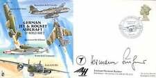 CC68c raf signed cover german jet avion signé wwii luftwaffe ace buchner kc