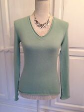 MAGASCHONI ladies pale green 100% CASHMERE jumper extra small