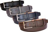 Cintura uomo in pelle stampa saffiano fodera di cuoio nabuck-3,5 cm accorciabile