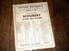 le roi des aulnes partition piano chant (allem. français) 1950 Frantz Schubert