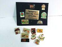 Vintage Coca-Cola 15 Pin Lot w/ Springtime Set 1980's 1990's and More Coke