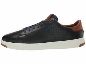 Cole Haan Grandpro Tennis Sneaker Navy Handstain Men's Leather C28872