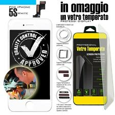 TOUCH SCREEN PER IPHONE 5S BIANCO VETRO DISPLAY SCHERMO LCD RETINA ASSEMBLATO