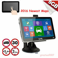 "5""INCH CAR TRUCK GPS SAT NAV NAVIGATION SYSTEM 8GB UK EU FREE MAPS"