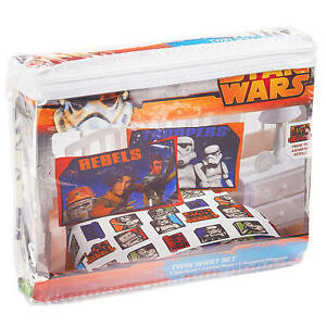 Disney Star Wars Rebels Ezra Kanan Twin Sheet 3Pc Flat & Fitted Sheet Pillowcase