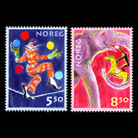 Norway 2002 - EUROPA Stamps - The Circus - Sc 1338/9 MNH
