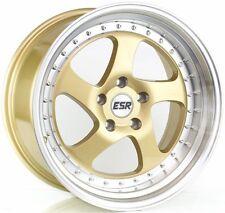 "ESR SR02 18X9.5 +35 5x114.3  Gold RIM Fit 370Z RSX TSX TL Prelude Wrx Sti 3"" LIP"