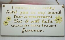 INFANT LOSS, ANGEL BABY, MISCARRIAGE, MEMORIAL PLAQUE. CAN BE PERSONALISED.