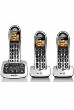 BT 4500 TRIO DIGITAL CORDLESS TELEPHONE BIG BUTTON PLUS ANSWER PHONE & HANDSFREE
