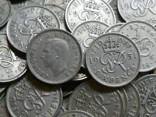 More details for 1951 george vi old lucky sixpences in bulk ideal for anniversaries any quantity