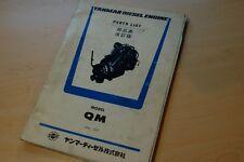 YANMAR MODEL QM DIESEL ENGINE Parts Manual book marine catalog spare list motor