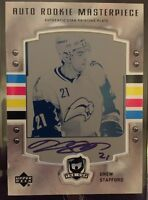 2006-2007 UD THE CUP Drew Stafford AUTO PRINTING PLATE ROOKIE RC 1/1