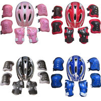 7Pcs Set Children Skate Cycling Bike Safety Helmet Knee Elbow Pad Set Boys Girls