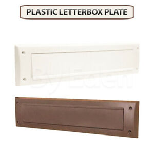 Plastic Letter Box Plate Seal Flap Cover PVC Door Internal Draught Excluder