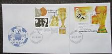 Nevis 2001 World Cup Football(Japan & Korea) Mini Sheets(2) on First Day Covers.