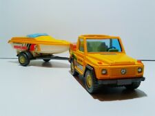 Cararama Mercedes G 4x4 SWB with speed boat trailer die cast 1:43 no box