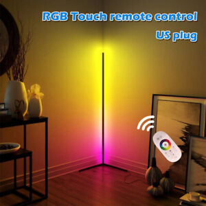 Corner Floor Standing Lamp RGB Color Changing Dimmable LED APP Remote Control