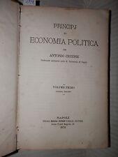 PRINCIPI DI ECONOMIA POLITICA Antonio Ciccone Jovene 1874 libro saggistica di