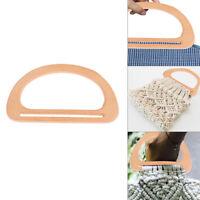 1XWooden Bag Handle Replacement DIY Bags Purse Making Handbag Shopping Tote BaQA