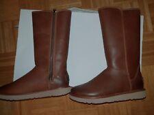Damen UGG Austalia Abree2 Leder Stiefel Schuhe Gr 5,5 38 37,5 Lammfell Braun Neu