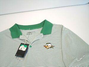 NEW Nike Mens Oregon Ducks Golf Shirt Size XL Victory Mini Stripe Dri-Fit 725520