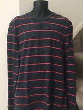 Nautica Men's Long Sleeve Striped Shirt Top Size XL True Navy New NWT