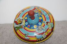 Vintage Chin toy top with clowns