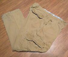 Buckle BKE Holden Cargo Pants 100% Cotton 6 Pocket Tan Light Brown Mens 36 x 27