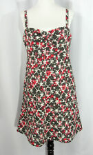 Patagonia Summertime Dress Size 6 Hemp Organic Cotton Pink Brown