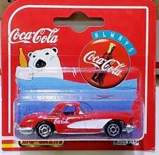 Coca-Cola Radio Line 1958 Chevrolet Corvette Red 1:64 Scale Diecast Majorette