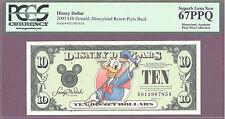2003 $10 A Disney Dollars DONALD DISNEYLAND RESORT PARIS PCGS 67 PPQ SUPERB GEM