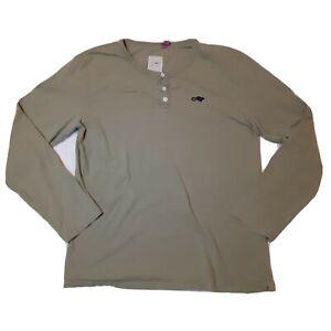 Marc Jacobs Stinky Rat Henley Shirt Button Long Sleeve Grey/Green Men's Medium