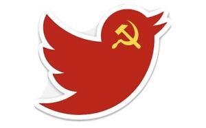 Replacement Twitter Logo Sticker Representing Their Communist Values Skateboard