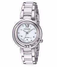 Citizen Women's EM0320-83A Sunrise Diamond Accents Silver Bracelet Dress Watch